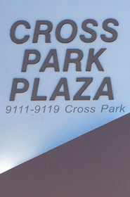 Inman & Stadler location - sign at cross park plaza